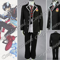 Ao no Exorcist Blue Exorcist Rin Okumura Cosplay Costume Custom-made(Jacket+Tie+Shirt+Toy Cat)
