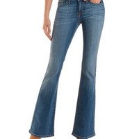 Medium Wash Flare Jeans by Charlotte Russe