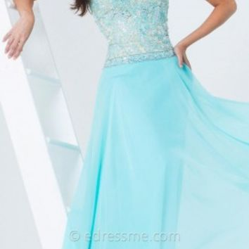 Iridescent Chiffon Prom Gown by Tony Bowls Paris