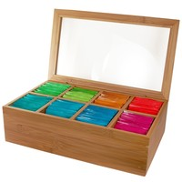 Bamboo Clear View Tea Chest