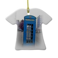 Telephone booth christmas ornaments from Zazzle.com