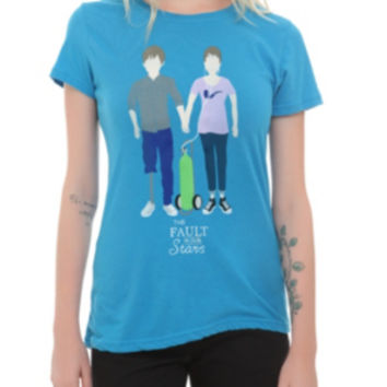The Fault In Our Stars Augustus & Hazel Drawing Girls T-Shirt