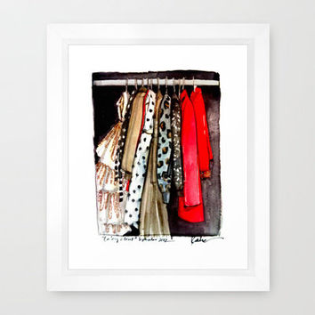 FALL CLOSET Framed Art Print by PAPERFASHION | Society6