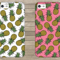 Pineapple Pattern Mobile Phone Case iPhone 3 3GS 4 4S 5 5S 5C Samsung Galaxy S2 S3 S4 Mini S5 Sony Xperia Z Blackberry Z10 Curve Bold HTC