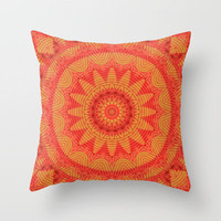 Orange K Throw Pillow by Lyle Hatch | Society6