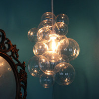 Custom Glass Bubble Chandelier - Art By Day, Light At Night.
