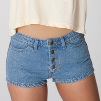 Denim Front Button Short