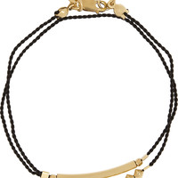 Finds - + Petite Grand gold-plated and silk wrap bracelet