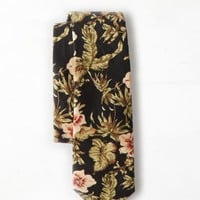 AEO 's Floral Tie (Charcoal)