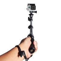 Telescopic Handheld Professional Monopod Camera Extender Pole with Tripod Mount for Gopro Hero 1 2 3 3+ 4 Camera and Cell Phone