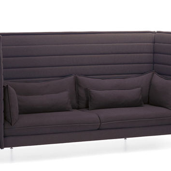 alcove highback three seater sofa
