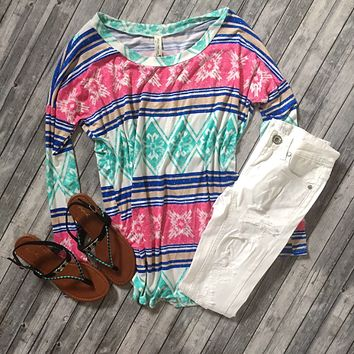 Your Best Distraction Tunic Top