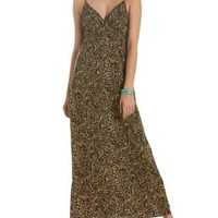 Printed Surplice Maxi Dress by Charlotte Russe