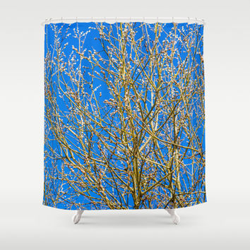 Willow buds - Easter Time Shower Curtain by Digital2real