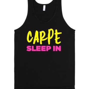 Sleep In Carpe-Unisex Black Tank