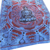 Meditation Buddha Hippie Hippy Wall Hanging Indian Tapestry Throw Bedspread Bed Decor Sheet Ethnic Decorative Art