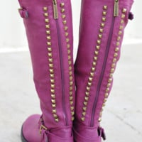 RESTOCK: Talk Of The Town Boots: Plum